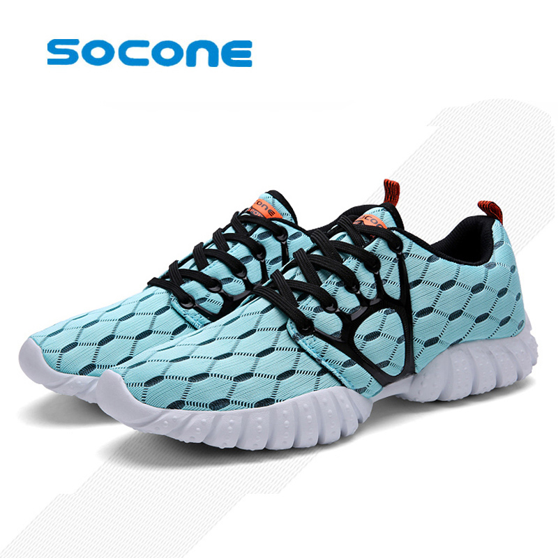 Socone Men Running Shoes Sport Big Size Black/Gray Mesh Jogging Shoes For Men Summer/Autumn Sneakers Mens Athletic Trainers Male