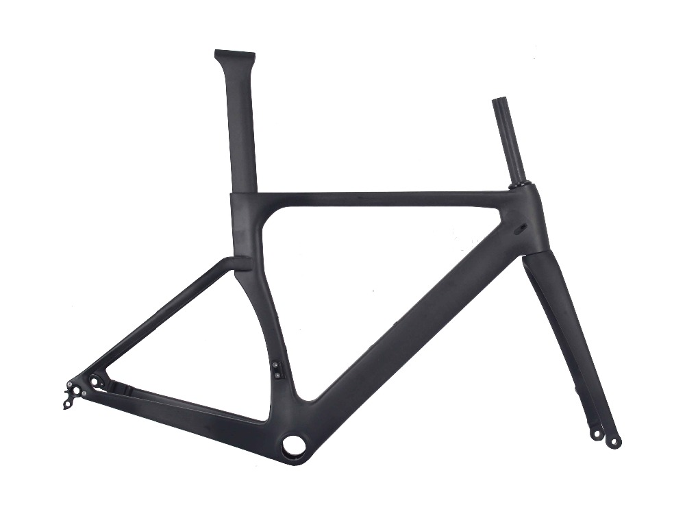 2019 MIRACLE Disc Brake Carbon Road Bike Frame 142*12mm Cadre Carbone Front 12*100mm And Rear 12*142mm Thru Axle UD Matte
