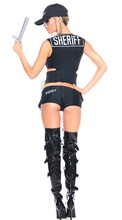 Women's Police Top, Shorts and Cap Set