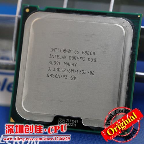 Livraison Gratuite Intel CPU Core2 DUO E8600 CPU/3.33 GHz/LGA775/775pin/6 MB L2 Cache/Dual-CORE/65 W Processeur scrattered pièces