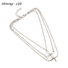 Foot Beach Jewelry Chinese Knot Cross Chain Anklet Bracelet Barefoot Tassel Anklets For Women Gifts pulseras tobille Best Gift