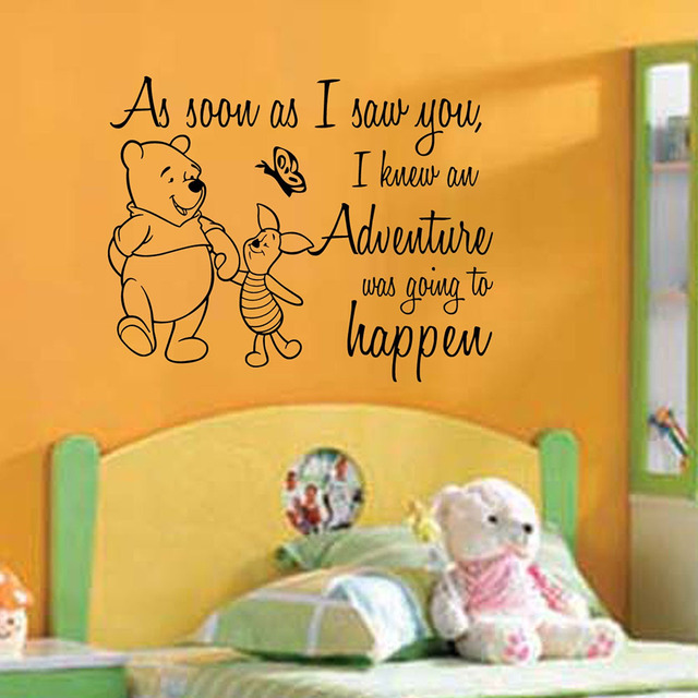 Winnie the Pooh Quote vinyl wall decal As Soon As I Saw You home ...