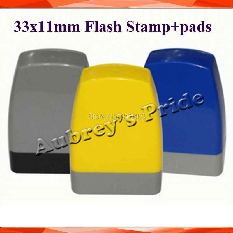 5Pcs Rectangle 3313mm Mix Color Holder Plus Rubber Pad For Photosensitive Portrait Flash Stamp Machine