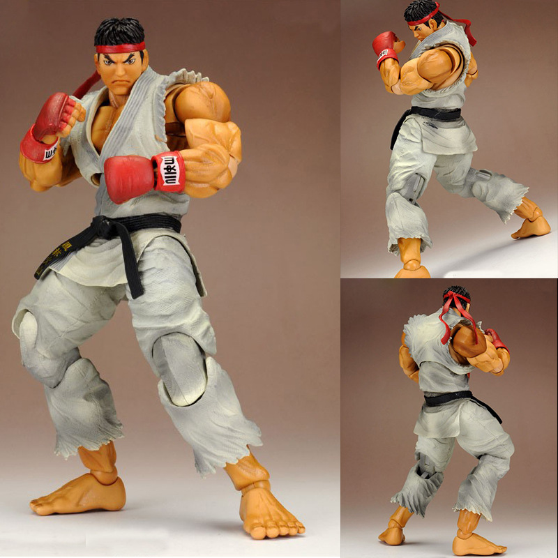PLAY ARTS KAI Street Fighter Ryu PVC Action Figure Collectible Model Toy 22cm KT3437 play arts kai street fighter iv 4 gouki akuma pvc action figure collectible model toy 24 cm kt3503