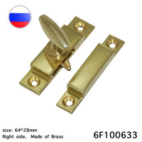 Window Latches Brass Wrapping Window Lock Installed on Wooden Window Frames 1Piece hardware parts latch spring Wholesale