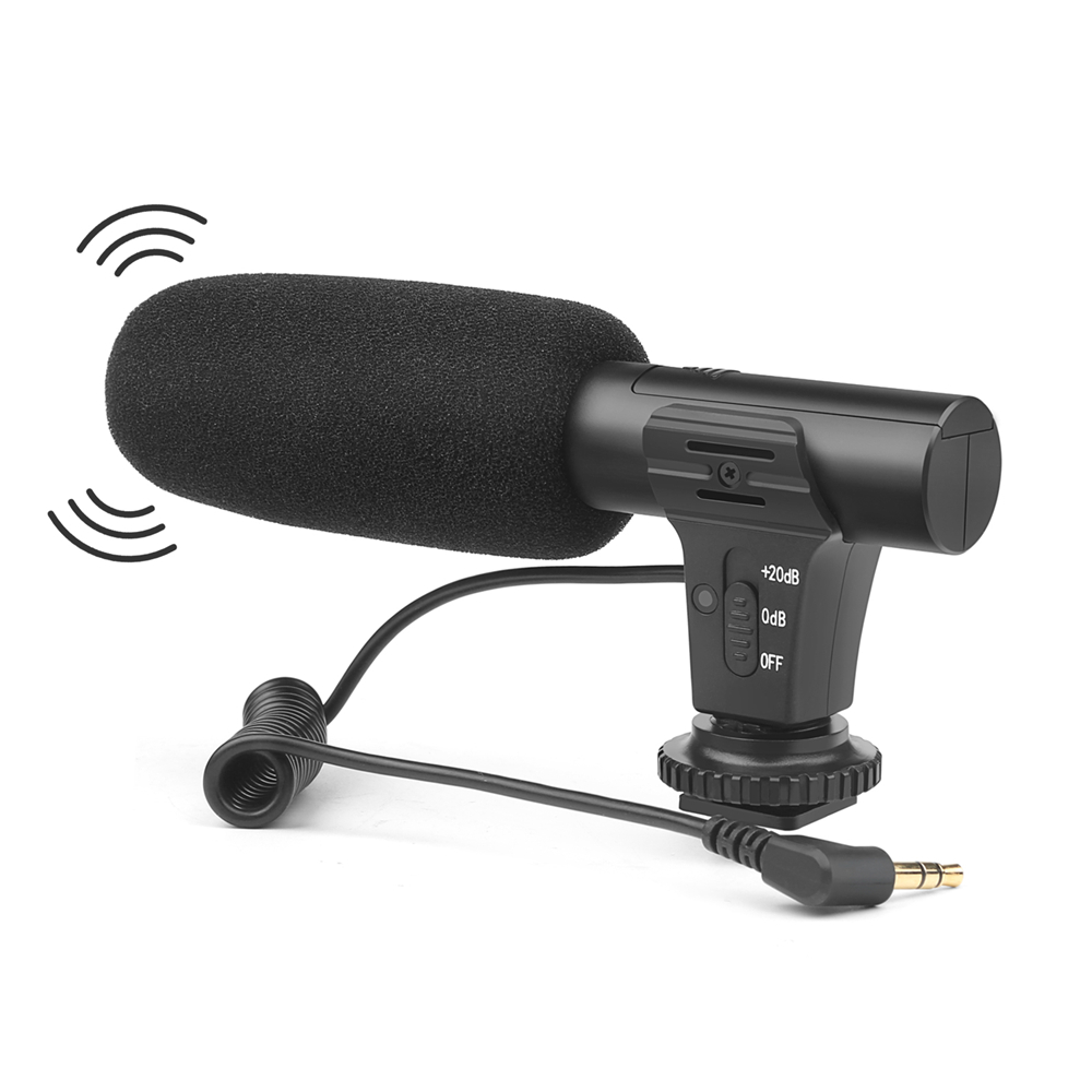 MIC-5 DSLR Camera Microphone 3.5mm Stereo VLOG Photography Interview Digital Video Recording Microphone For Nikon/Canon/Sony