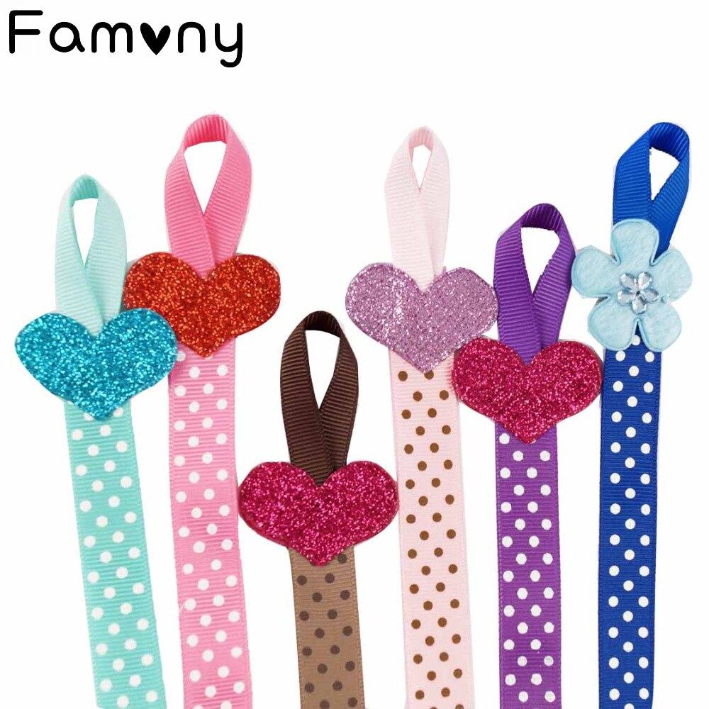2pcs Mermaid Unicorn Ribbon Hair Bow Holder Storage Polka Dots Hair Clip Holder