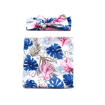 Floral Swaddle with Headband -Merlyn