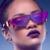 Mais novo Rihanna Personalidade Siameses Reflexivas Óculos Polarizados Marca Designer Revestimento Óculos Mulheres Armação de Metal Roxo