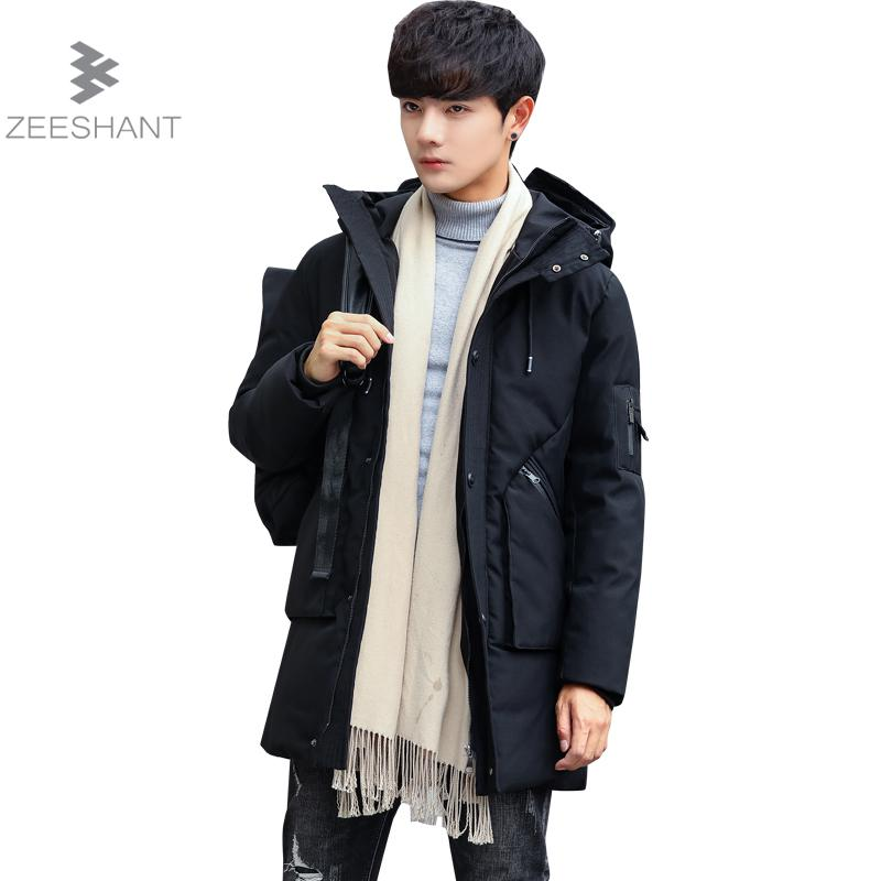 Zeeshant Men Padded Parka Cotton Coat Winter Jacket Mens Fashion Winter Hooded Coat Thick Parkas In Men's Parkas XXXXL tiger force 2017 new collection men padded parka winter coat mens fashion jacket long thick parkas artificial fur free shipping