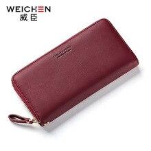 Weichen, брендовый дизайн, женский длинный клатч, кошелек, большая емкость, кошельки, женский кошелек, Дамские кошельки для монет, держатель для телефона, карт, Carteras