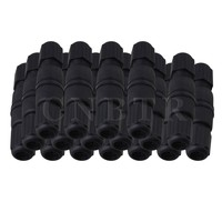 Black RJ45 M25 IP67 Protection Double Ended Waterproof Connector Set Of 20