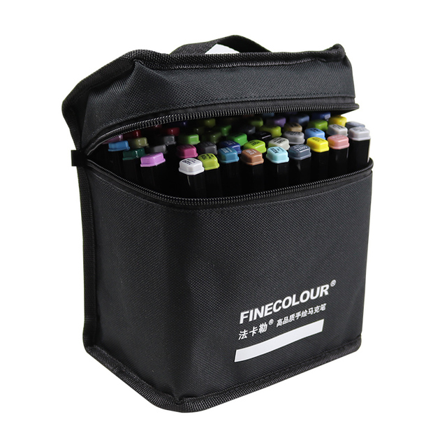 US $57 75 30% OFF|Finecolour EF102 Landscape Gardening Design Art Markers  Pen Dual Head Markers Sketch Set Soft Brush Marker Pen-in Art Markers from