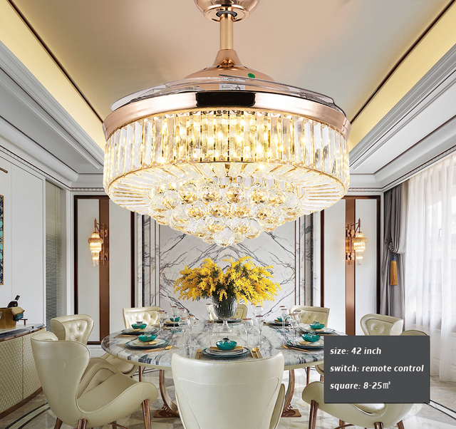 Luxury Dining Room Ceiling Fan Lamp 4 Blade Previous