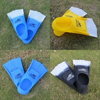 ISF Adult Flexible Swimming Fins Long Flipper Diving Material Silicone Portable Comfortable Swimming Fins Diving Equipment