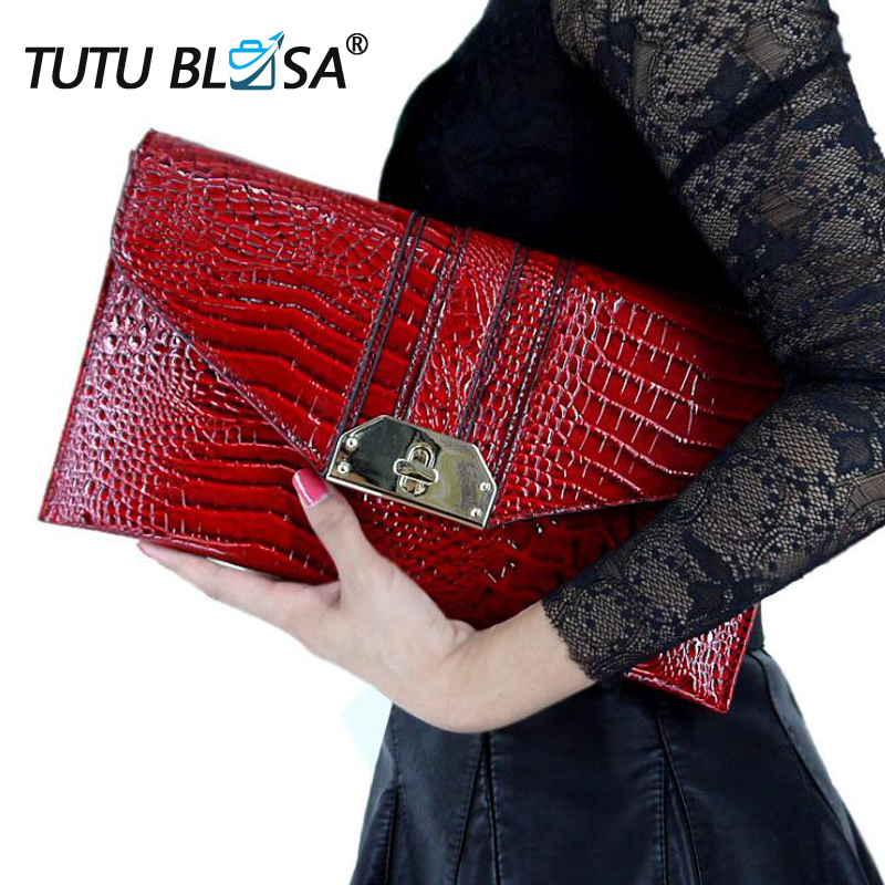 Women Clutch Bag Genuine Leather Envelope Ladies Hand Bag Fashion Chain Shoulder Bag Crocodile Leather Party Day Clutch Purse 94 bts taehyung warriors