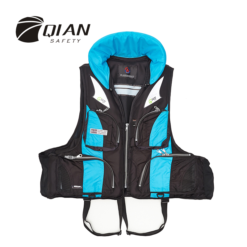 ФОТО QIAN SAFETY Fishing Accessorial Life Jacket Multi-functional Water Sports Survival Dedicated Swimwear Accessorial Life Vest