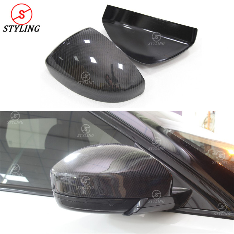 For Land Rover Range Rover Evoque Carbon Mirror Cover Add on style Carbon Fiber Rear side view Mirror Cover 2014 2015 2016 - UP for cadillac ats full add on style carbon fiber mirror covers 2014 2015