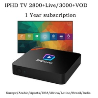 iptv Italy IPHD S900 4K Smart iptv box 1 year subscription m3u for French Spanish UK Portugal Norway Channels media player VOD