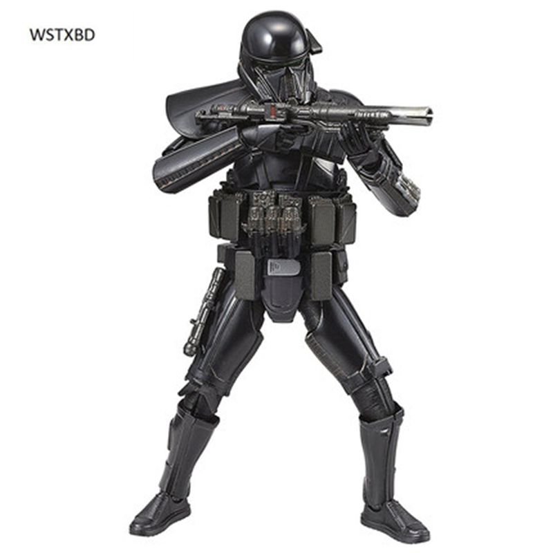 WSTXBD Original BANDAI STAR WARS ROGUE ONE 1/12 Scale DEATH TROOPER PVC Figure Model Kids Dolls Toys Figurals купить