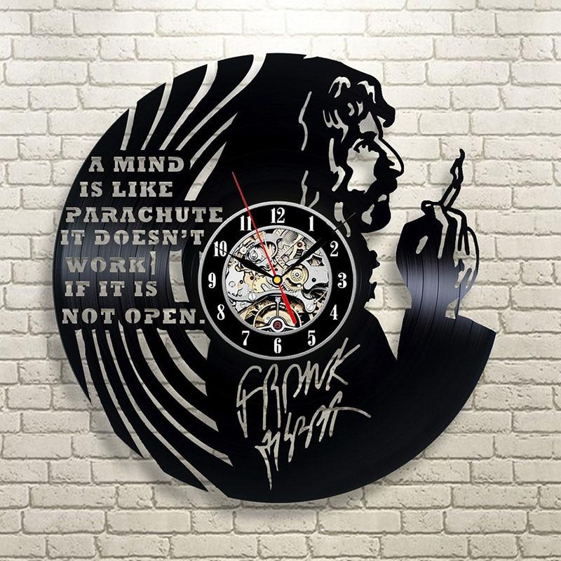 Frank Zappa Art Vinyl Record <font><b>Clock</b></font> Wall Decor Home Design