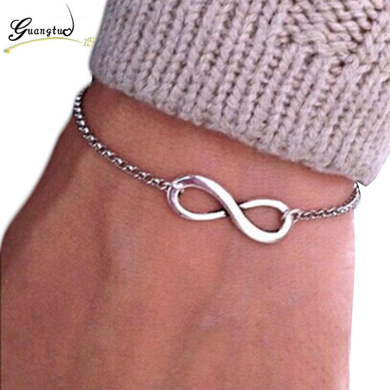 Fashion Vintage Infinity 8 Bracelet For Women Bracelets Gift Wholesale Bangles Men Jewelry Gift Charm Bracelets