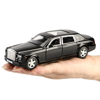 Collectible Diecast 1:32 Scale Models Diecast Car for Rolls car Alloy Model Car Metal Toy with Sound/Light/Pull Collection Gift