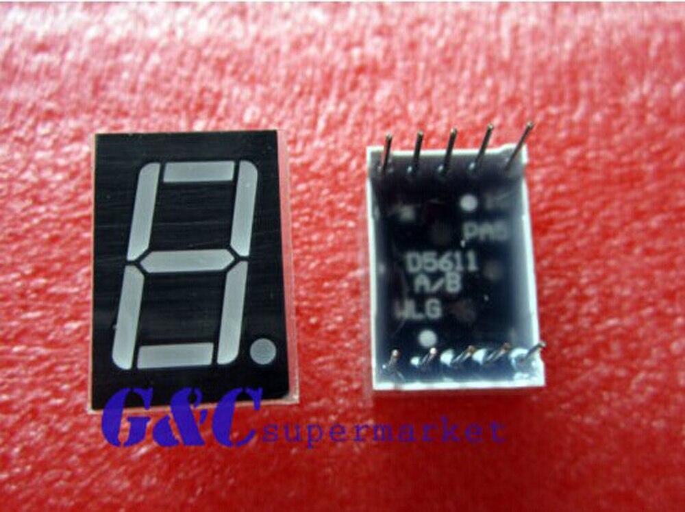 5PCS 0.56 inch 1 digit Blue Led display 7 segment Common cathode CA NEW
