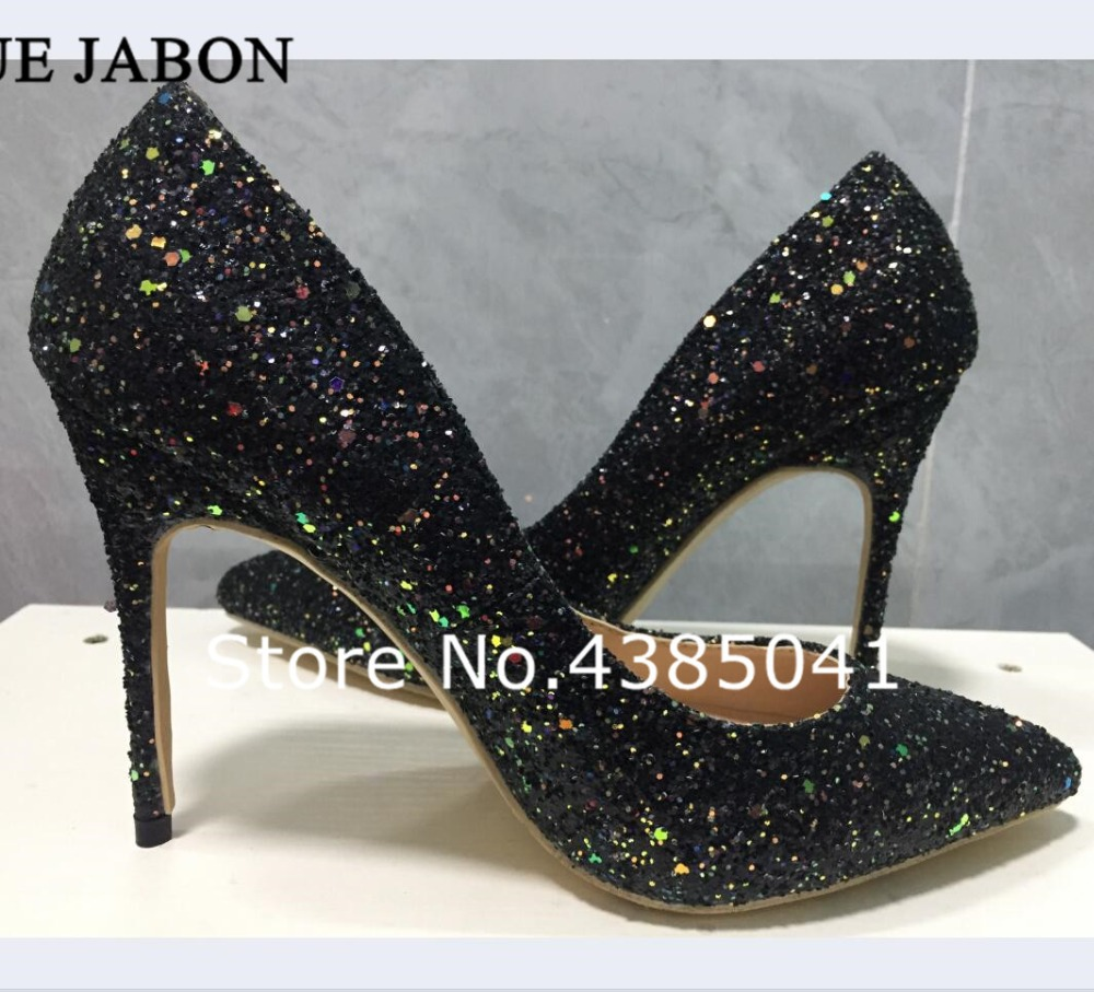 Pompes 2 Sexy Femmes 3 10 1 Yue 12 Hauts picture Mariage Jabon Haute Cm Picture Dames 8 De Chaussures Glitter Talons picture Noir Femme qEg17xgw