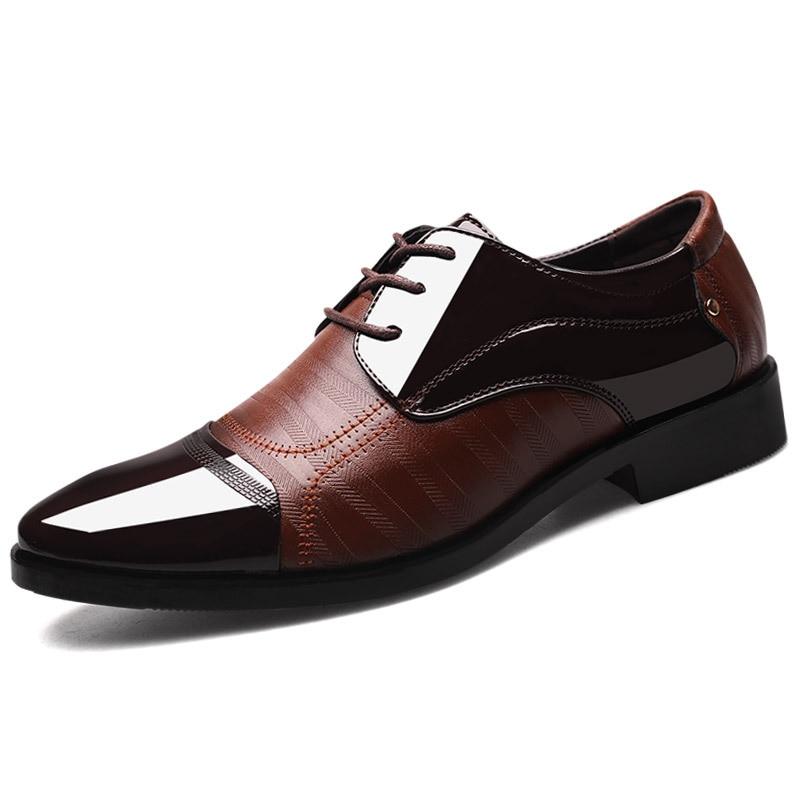 Cuir Pointu En Respirant Chaussures Noir De Doux marron D'affaires Formelles Mode Hh Pu Hommes Marque Bout Oxford 2018 567 Luxe wAZqzn