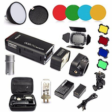 Godox AD200 Kit 200Ws 2.4G TTL Pocket Flash Strobe 1/8000 HSS Cordless Monolight 2900mAh Lithimu Battery and Bare Bulb / Speedlite
