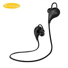 Honsigogo Sweatproof Esporte Sem Fio Bluetooth Fone de Ouvido Com Cancelamento de Ruído Fones de Ouvido Estéreo com Alta Fidelidade de Graves Fone De Ouvido Mic para Telefones