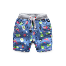 Brand Summer Style Children Beachwear Casual Beach Shorts Kids Clothes Cotton Baby Boys Shorts For Age 2-8T