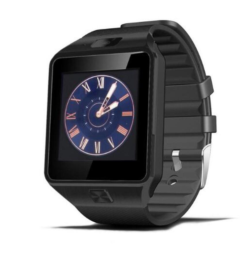 Самые дешевые DZ09 Bluetooth Смарт-часы для мужчин Интеллектуальные цифровые спортивные Смарт-часы Поддержка SIM TF карты напоминание о сообщениях дропшиппинг - Цвет: black