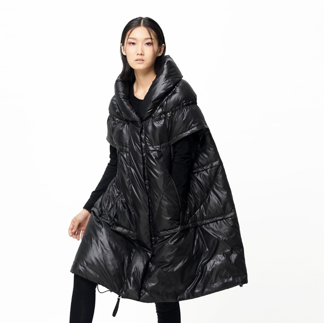 2b9f10e9e US $199.0  Women's Winter Fashion Cloak Down Coat Winter Short Sleeve  Outerwear Cloak White Duck Down Jacket-in Down Coats from Women's Clothing  on ...