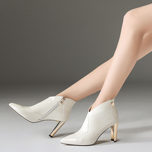 Patent Leather Ankle Women Boots
