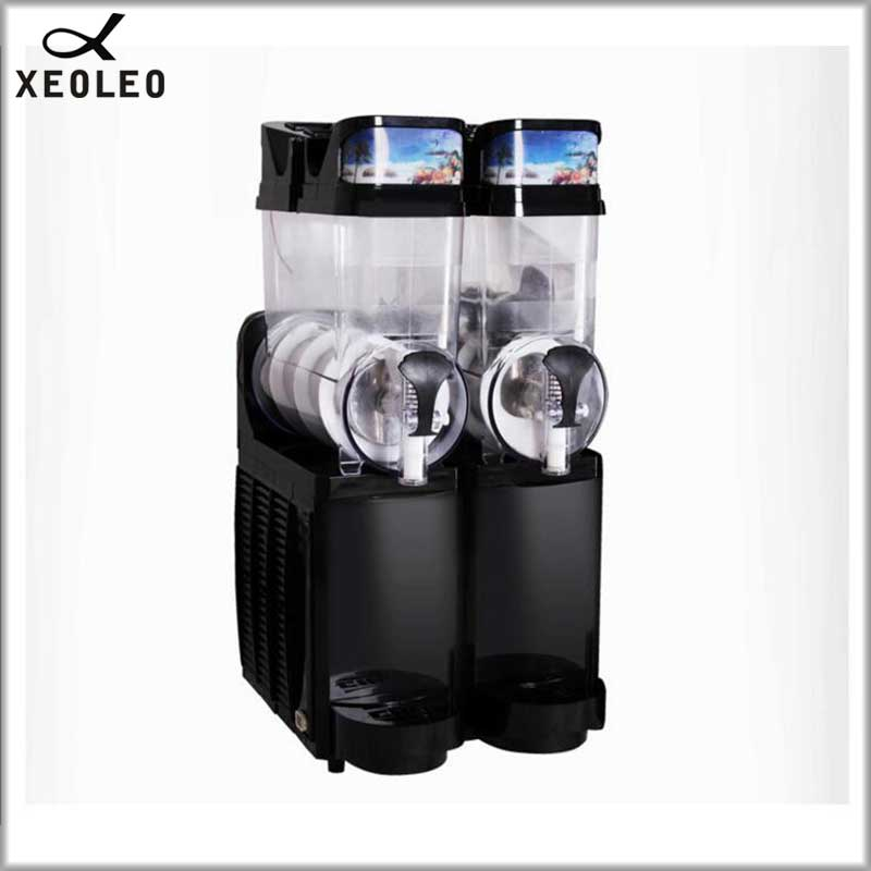 XEOLEO Commercial Slush Machine Double Tank 15L*2 Ice Slusher Slush Granita Machin Ice Cream Snow Melting Machine Smoothie Maker