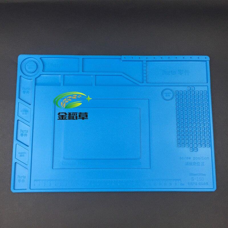 S 150 38 5x27cm Heat Insulation Silicone Pad Desk Mat Maintenance Platform For BGA Soldering Repair