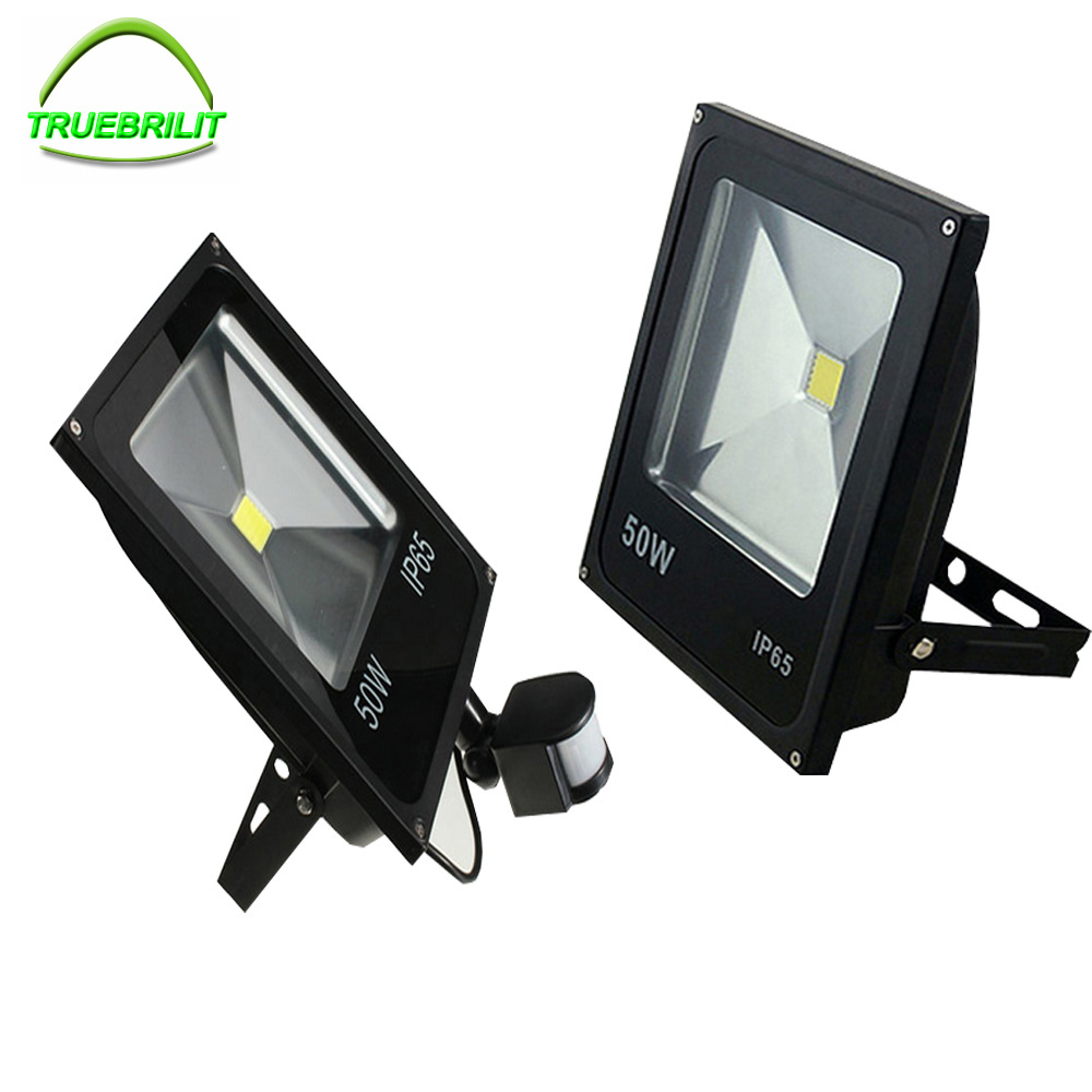 10W 20W 30W 50W LED Motion Sensor Flood Lights PIR Floodlights Induction Sense Reflector Outdoor Spotlights IP65 85-265V free dhl fedex 85 265v 10w 20w 30w 50w 70w 100w pir led floodlight with motion detective sensor outdoor led flood light spot