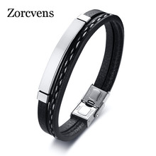 ZORCVENS Handmade Genuine Leather Bracelet For Men Woman Han