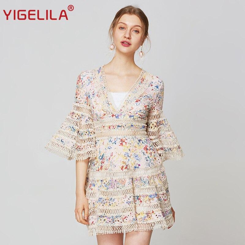 YIGELILA Sexy Empire Slim A-line Dress 63582