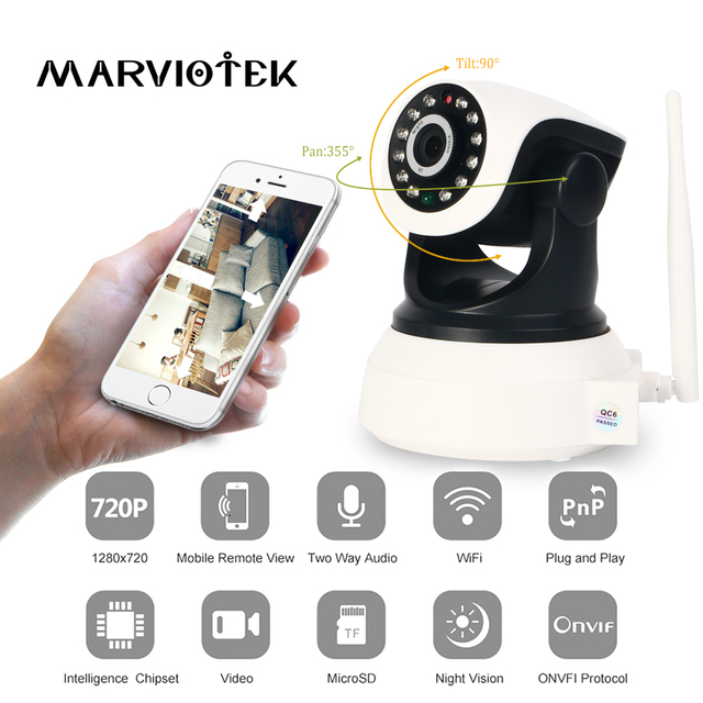 720P Wireless IP Camera wi-fi alarm wifi camera surveillance 360 degree Pan Tilt wifi cctv camera video baby monitor audio