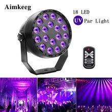 Aimkeeg 18 светодиодный УФ световые эффекты профессиональное освещение сцены диско DJ Проектор машина вечерние с беспроводным пультом дистанционного управления