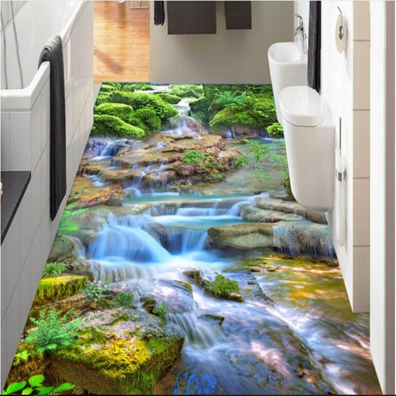 Beibehang Custom Personalized Flowing Water Health Caishan D Three - 3 dimensional floors