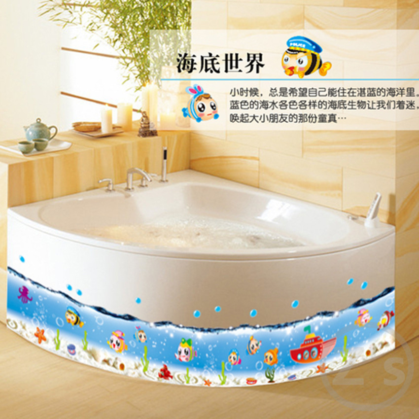 Fish Sea Bathroom Decor Sticker Baby Shower Decoration Wall Sticker For Kids Room Nursery Decor Glass