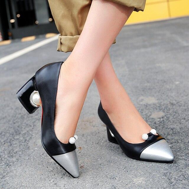 Стильный 5 Цветов Женщины Насосы Острым Носом Каблуки Странно Стиль Насосы Высокого qulaity Обувь Женщина Плюс Размер США 4-16