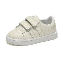 Для маленьких мальчиков теннисные туфли для девочек кроссовки натуральная кожа школьная обувь; Белая обувь для дети обувь zapato menino nina; повседневные