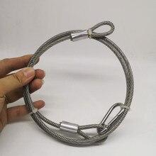 ПВХ) 1,2 мм, 50 м/100 м, 7X7 304 трос из нержавеющей стали с ПВХ покрытием более мягкий рыболовный кабель с покрытием трос