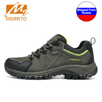 Shipped From Russia MERRTO Men Waterproof Hiking Shoes Boots Professional Outdoor Cowhide Walking Shoes Boot Sneakers