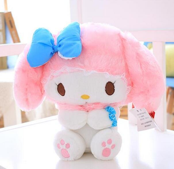 Candice Guo! Super Cute Plush Toy Cartoon Bowknot Melody Pink My Melody Doll Kids Girls Lovers Birthday Christmas Gift 1pc